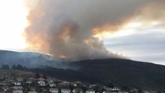 The fire viewed from North East Valley. (Photo / Tim Miller)