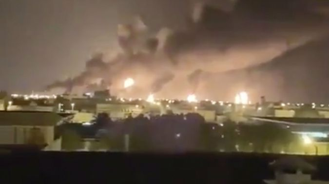 President Donald Trump said the US is 'locked and loaded' after the attack on the Abqaiq oil facility. (Photo / AP)