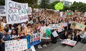 School students protesting climate change earlier in the year. (Photo / Mark Mitchell)