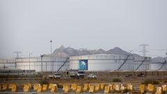 Storage tanks are seen at the North Jiddah bulk plant, an Aramco oil facility, in Jiddah, Saudi Arabia,  Photo / AP
