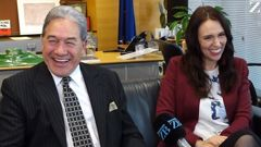 Prime Minister Jacinda Ardern with Deputy Winston Peters.