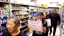 Shoppers hit out as vegan protesters storm St Lukes supermarket