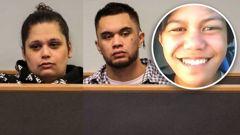 Ashley Winter aka Toko Shane Rei Winter, left, and Kerry Te Amo, right, are accused of murdering Dimetrius Pairama (inset). (Photos / Sam Hurley / Supplied)