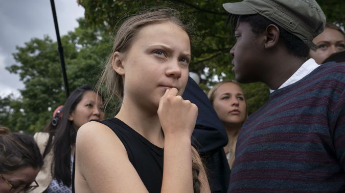 The Swedish teen activist is in America at the moment. (Photo / AP)
