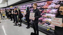 Vegan protesters plan more action after supermarket stunt