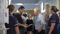Boris Johnson confronted by angry parent at hospital