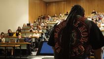 Mongrel Mob members lecture Canterbury University students