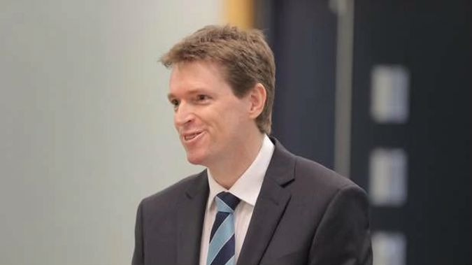 Colin Craig at the Auckland High Court to defend his defamation accusation by Rachel MacGregor. (Photo / Michael Craig)