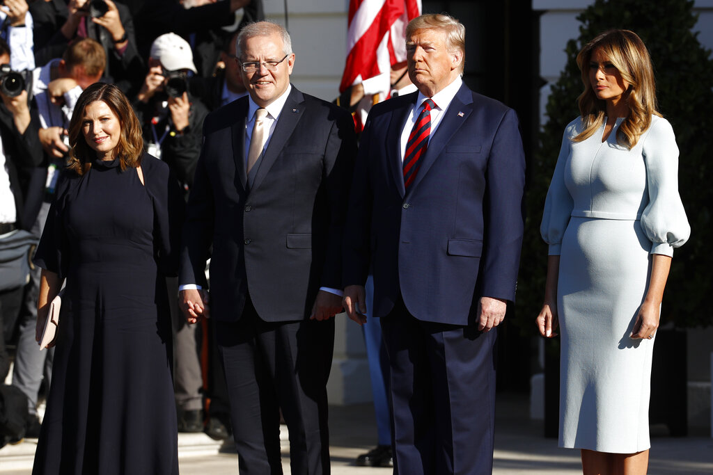 Trump holds state dinner for Aussie PM Morrison
