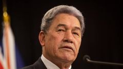 On the day that marked two years since the last election, Winston Peters spoke positively of the New Zealand's economy while taking aim at the opposition. (Photo / File)