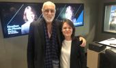 Mick Fleetwood in studio with Heather du Plessis-Allan.