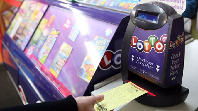 Punters line up at Wellsford's lucky Lotto shop