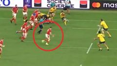 Australian media claimed Gareth Davies was offside, but other images showed differently. Photo / Twitter