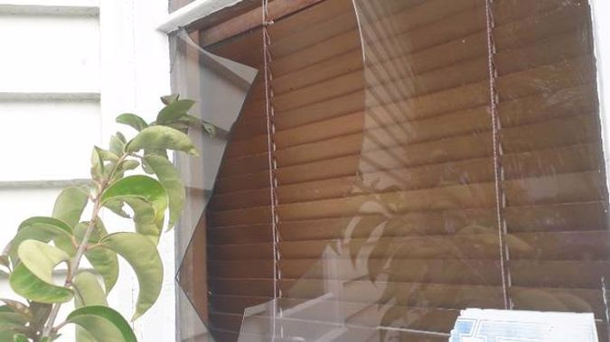 Multiple windows were smashed in a Phyllis St property, Mt Albert, rented out via Booking.com last night.