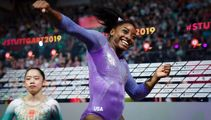 Simone Biles sets world championship record after latest gold medal win