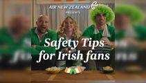 Air NZ take swipe at Irish fans in mock safety video