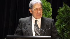 Winston Peters at the NZ First conference over the weekend. (Photo / NZ Herald)