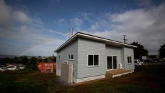 A new flat-pack home in Onehunga. Photo / Dean Purcell