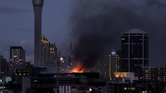 SkyCity blaze: Fire crews abandon roof to contain the fire