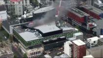 Watch: Aerial footage reveals extent of SkyCity blaze