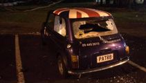 Poor losers? English Mini smashed up after All Blacks loss