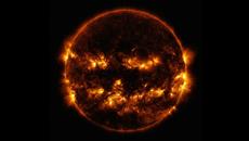 NASA releases photo of 'jack-o-lantern' sun