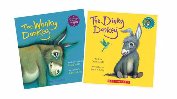 The Dinky Donkey, a follow-up to the wildly successful The Wonky Donkey, is out now.