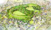 Artist impression of Ōwairaka/Mt Albert after the native regeneration project being carried out by the Tūpuna Maunga Authority. Image / Supplied