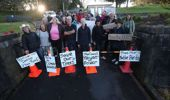 Protesters are unhappy with plans to cut down over 300 trees. (Photo / NZ Herald)
