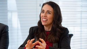 Jacinda Ardern said there was a certain inevitability when it comes to moving the port, the questions is at what point it moves. Photo / Marty Melville.