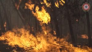 While temperatures dropped 10 degrees overnight, officials say the fire danger isn't over. Photo / Supplied