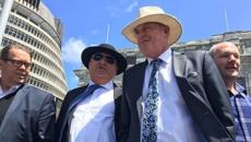 Shane Jones calls hundreds of farmer protesters outside Parliament 'rednecks'