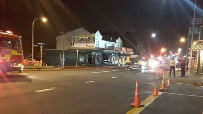 Thirteen fire crews were sent to fight the blaze at VapeBox along with police and St John ambulance crews. (Photo / Supplied)