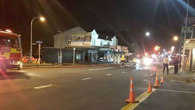 Car crashes into vape shop, burns it down - on purpose