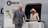 Prince Charles and Camilla, Duchess of Cornwall, arrive at Whenuapai. Photo / Dean Purcell