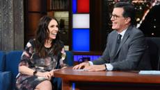 Stephen Colbert begins his New Zealand week with Jacinda Ardern and Lorde