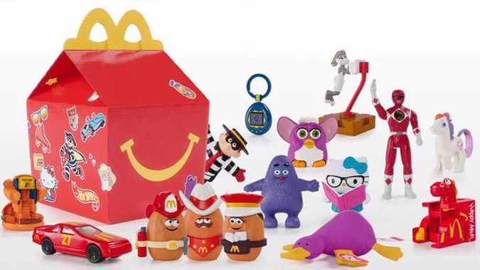 The iconic Happy Meal toys will feature two classics from 1988, 12 from the 1990s and one from 2013. (Photo / Supplied)