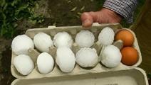 Foul weather sees hail as big as golf balls pummels Timaru
