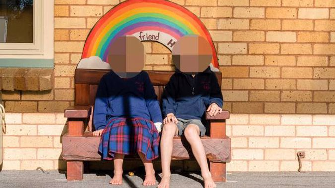 Marian Catholic School in Hamilton has refused to let girls (left) wear shorts like the boys (right). (Photo / Supplied)