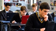 Students at Rongotai College in Wellington were among 8000 students nationally who sat NCEA online last year. (Photo / File)
