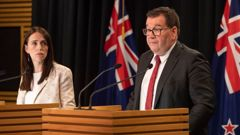 Grant Robertson told the party conference it was a 'once in a generation' fiscal opportunity. (Photo / NZ Herald)