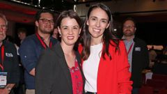 New Labour party president Claire Szabo with Prime Minister Jacinda Ardern. Photo / Getty Images