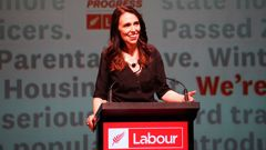 Jacinda Ardern at the Labour Party Conference in Whanganui. (Photo / NZ Herald)