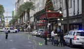 New Orleans police investigate the scene of a shooting on the edge of the city's famed French Quarter. (Photo / AP)