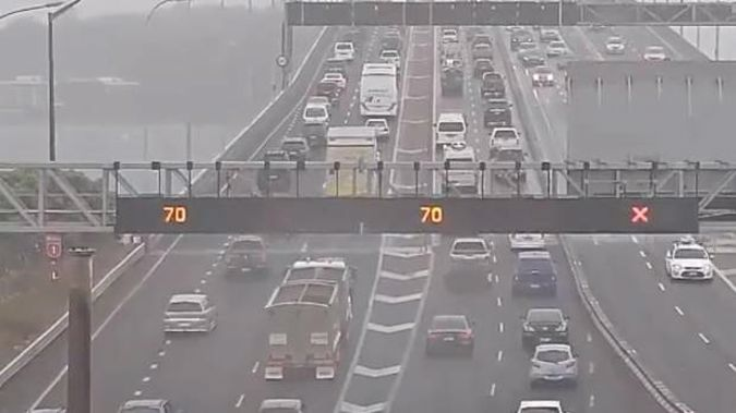 Motorists are being warned to drive with extra care as strong winds buffet Auckland's Harbour Bridge. Photo / NZTA