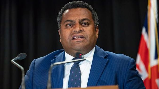 Cabinet Minister Kris Faafoi held a press conference this afternoon over a scandal in which he appeared to interfere in a friend's immigration matter. Photo / Mark Mitchell