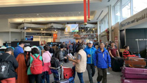 Weather chaos: People stranded as flights cancelled, roads cut off