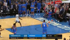 Steven Adams' incredible last-second pass helps Oklahoma City Thunder win
