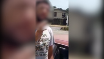 Video shows mum confront man who allegedly followed her daughter