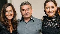 Convicted killer Borce Ristevski with his wife, Karen (left), and daughter, Sarah. (Photo / News Ltd)